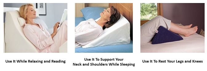 wedge pillow can be placed on your bed in various ways as per the purpose or use you have