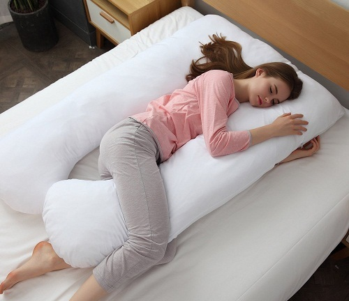 Maternity Pillow for Pregnant Women and Back Pain Relief 9ft Full Body U Shaped Pillow