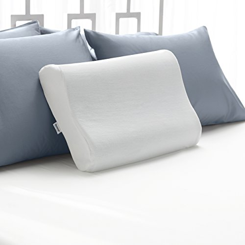 7 sleep innovations contour memory foam pillow with 100 cotton cover