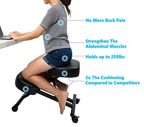 If you are one of those back pain sufferer who finds their spine painful after long day office work then Sleekform Ergonomic kneeling chair is one of the ...  sc 1 st  Neck Sprain & 10 Best Ergonomic Kneeling Chair For Back And Neck Pain